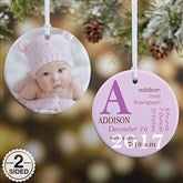 2-Sided All About Baby Photo Personalized Birth Ornament - 14842-2