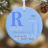 1-Sided All About Baby Personalized Birth Ornament - 14842-1