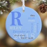 1-Sided All About Baby Personalized Birth Ornament- Small - 14842-1