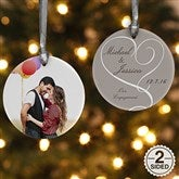 2-Sided Our Engagement Photo Personalized Ornament - 14843-2