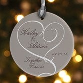 1-Sided Our Engagement Personalized Ornament - 14843-1