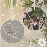 2-Sided Our Engagement Photo Personalized Ornament-Large - 14843-2L