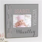 Darling Baby Girl 5x7 Personalized Wall Frame - 14848