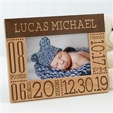 Baby Love Birth Information Personalized Picture Frame- 4 x 6 - 14853-S