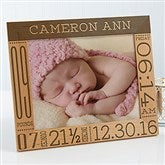 Baby Love Birth Information Personalized Picture Frame- 8 x 10 - 14853-L