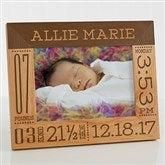 Baby Love Birth Information Personalized Picture Frame- 5 x 7 - 14853-M