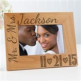 Our Wedding Date Personalized Photo Frame- 4 x 6 - 14856-S