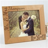 Our Wedding Date Personalized Photo Frame- 8 x 10 - 14856-L