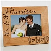 Our Wedding Date Personalized Photo Frame- 5 x 7 - 14856-M