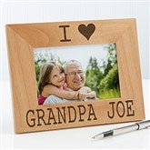 I/We Love Him Personalized Picture Frame- 4 x 6 - 14857-S