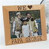 I/We Love Him Personalized Picture Frame- 8 x 10 - 14857-L