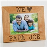 I/We Love Him Personalized Picture Frame- 5 x 7 - 14857-M