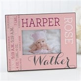 Darling Baby Girl Personalized Picture Frame - 14860