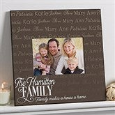 Family Is Love 5x7 Personalized Wall Frame - 14868