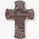 Family Blessings Personalized Cross - 14873