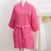 Plus Size Embroidered Pink Kimono Robe- Monogram - 14886-RMX