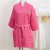 Embroidered Pink Kimono Robe- Monogram - 14886-RM