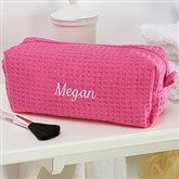 Embroidered Pink Make-up Bag- Name - 14886-BN