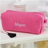 Embroidered Pink Make-up Bag- Name - 14886-BN