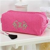Embroidered Pink Make-up Bag- Monogram - 14886-BM