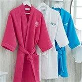 Embroidered Waffle Weave Kimono Robe - 14886-RN