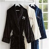 Just For Him Embroidered Luxury Fleece Robe- Monogram - 14893-M