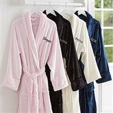 Classic Comfort Embroidered Luxury Fleece Robe- Name - 14894-N