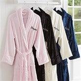 Classic Comfort Embroidered Luxury Fleece Robe- Name - 14894-N