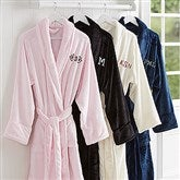 Classic Comfort Embroidered Luxury Fleece Robe- Monogram - 14894-M