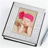 Baby Love Birth Information Engraved Photo Album - 14915