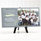 Our Grandchildren Personalized Canvas Print-1 Photo- 5½ x 11