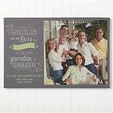 Our Grandchildren Personalized Canvas Print-1 Photo- 16