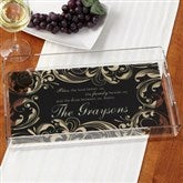 Family Blessings Personalized Acrylic Serving Tray - 14919