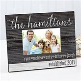 Family Love Personalized Rustic Picture Frame - 14922