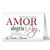 Amor alegría y Paz Personalized Spanish Cards - 14932