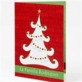 Christmas Tree Personalized Spanish Christmas Cards - 14934