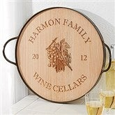 Maple Leaf Personalized Oak Serving Tray - 14936D