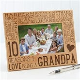 Reasons Why For Him Personalized Picture Frame- 4 x 6 - 14946-S