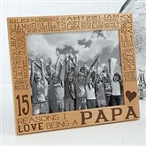 Reasons Why For Him Personalized Picture Frame- 8 x 10 - 14946-L