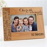 Cherish The Simple Things Personalized Picture Frame- 4 x 6 - 14949-S