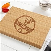 Family Brand Personalized Bamboo Cutting Board- 10x14 - 14951