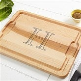 Chef's Monogram Personalized Maple Cutting Board - 14956