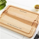 Bless This Home Personalized Maple Cutting Board- 12x17 - 14957