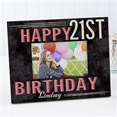 Vintage Birthday Personalized Picture Frame - 14963