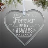 Love Quotes Personalized Heart Ornament - 14977