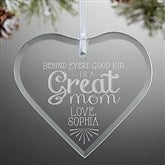 Loving Words To Her Personalized Heart Ornament - 14980