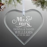 The Happy Couple Personalized Heart Ornament - 14981