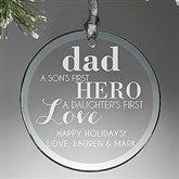 First Hero/First Love Personalized Circle Ornament - 14982