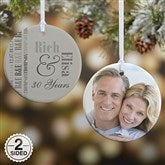 2-Sided Anniversary Memories Personalized Photo Ornament - 14983-2