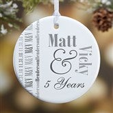 1-Sided Anniversary Memories Personalized Ornament - 14983-1